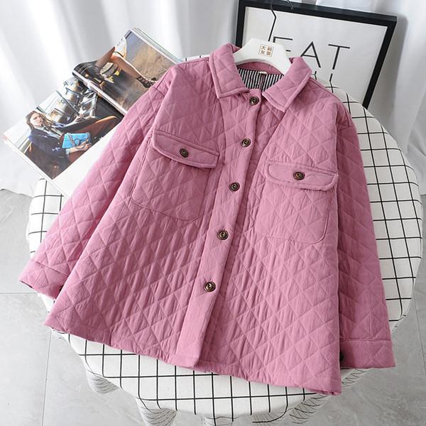 Μοντέρνο γυναικείο μπουφάν με τσέπη με μακριά μανίκια σε διάφορα χρώματα
