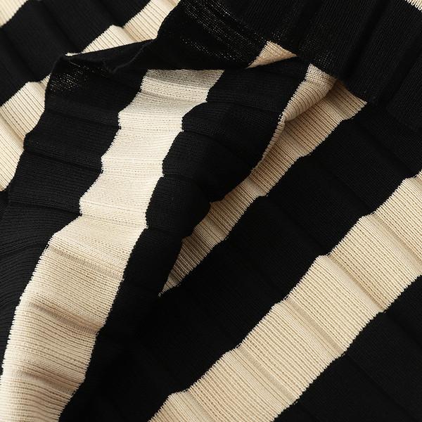 Раирана дамска пола с висока талия в два цвята