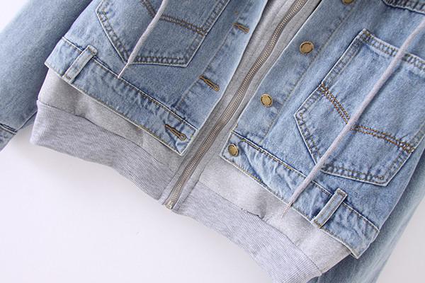 Γυναικείο μπουφάν  για το φθινόπωρο με γκρίζο  χρώμα
