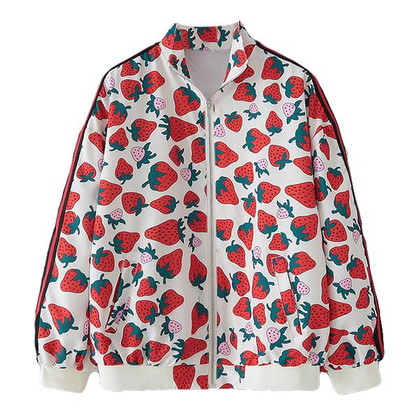 Γυναικείο μπουφάν  για το φθινοπωρινό  με μακριά μανίκια και φερμουάρ σε λευκό χρώμα