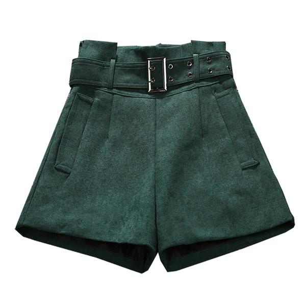 Дамски актуални къси панталони в три цвята с висока талия