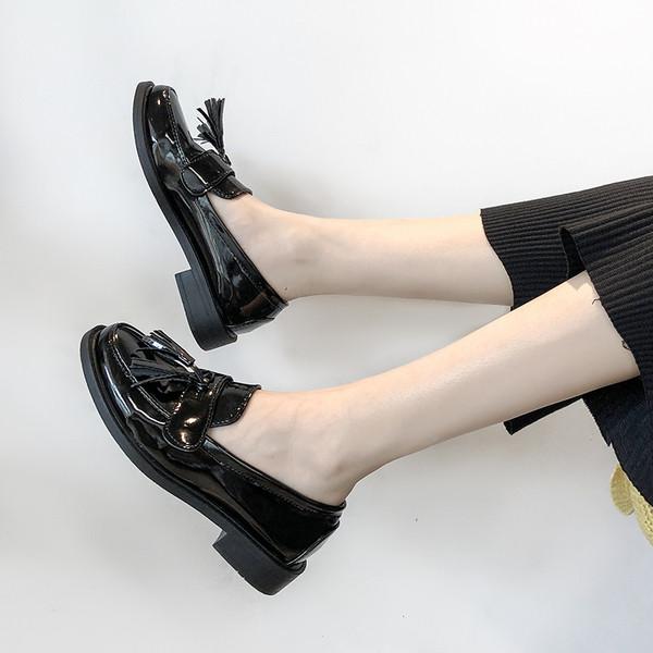 Модерни дамски мокасини от еко кожа в черен цвят