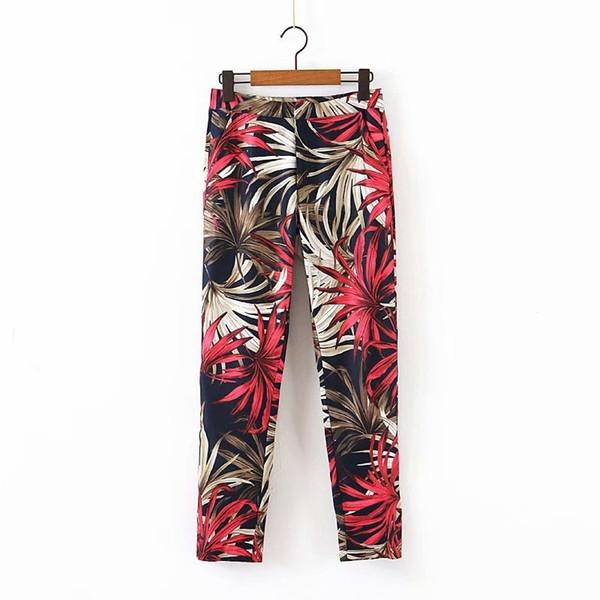 Дълъг втален панталон с флорален десен