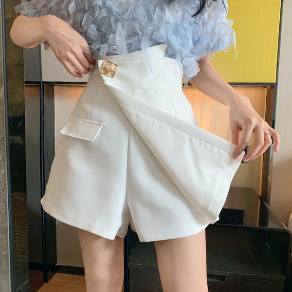 Пола - панталон в два цвята с метален елемент