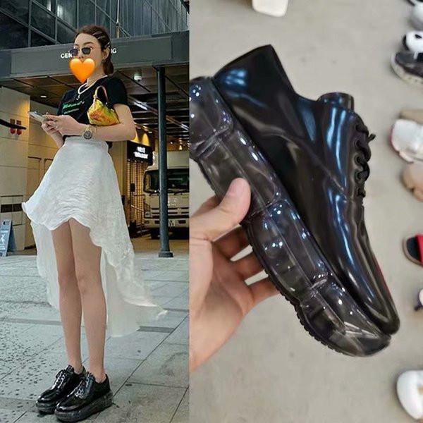 Нов модел дамски обувки в черен цвят с връзки