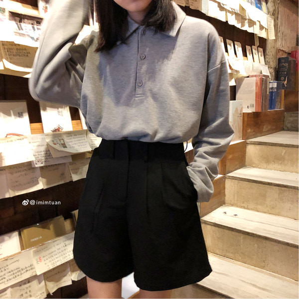 Дамски ежедневни къси панталони - широк модел в два цвята