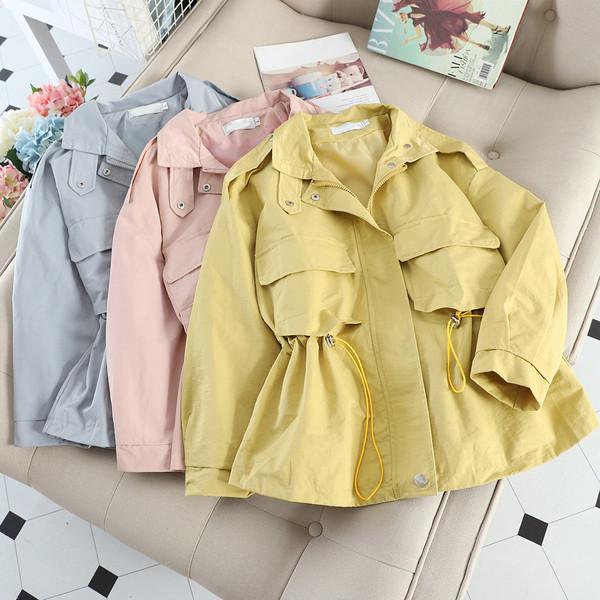 Casual γυναικείο μπουφάν με ζώνη σε διάφορα χρώματα