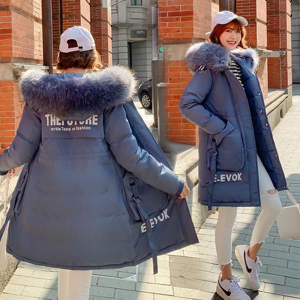 Μοντέρνο μακρύ  γυναικείο μπουφάν με τσέπη σε διάφορα χρώματα
