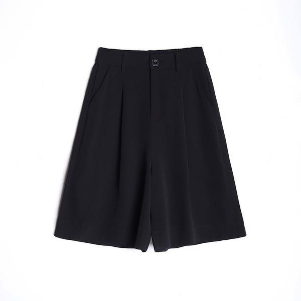 Актуални дамски панталони 3/4 дължина в черен и червен цвят
