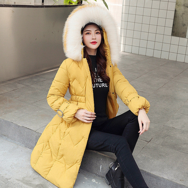 Νέο μοντέλο γυναικείο μακρύ μπουφάν με  τσέπη σε έξι χρώματα