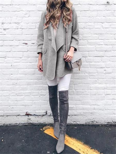 Дамско есенно палто в четири цвята