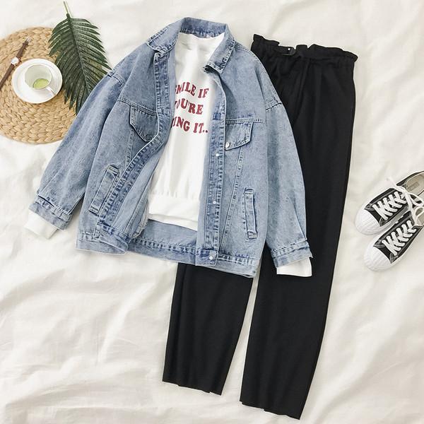 Φαρδύ μοντέλο γυναικείο μπουφάν σε μαύρο και μπλε χρώμα
