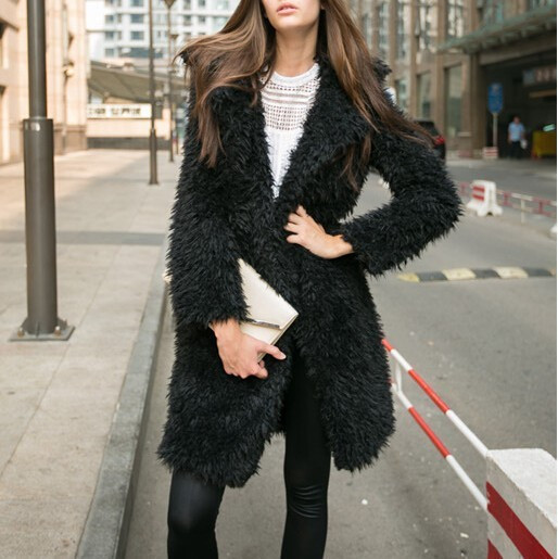 Модерно дамско дълго палто с дълъг ръкав в няколко цвята