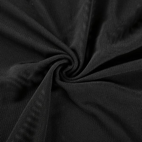 Актуално дамско боди с дълъг ръкав в черен цвят