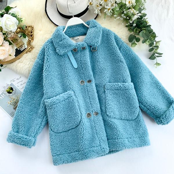Модерно дамско палто с джоб и копчета в четири цвята
