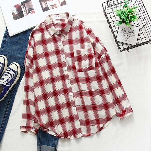 Νέο μοντέλο γυναικείο πουκάμισο με τσέπη και κλασικό γιακά σε διάφορα χρώματα