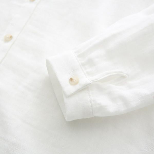 Νέο μοντέρνο γυναικείο πουκάμισο με κεντήματα σε λευκό χρώμα