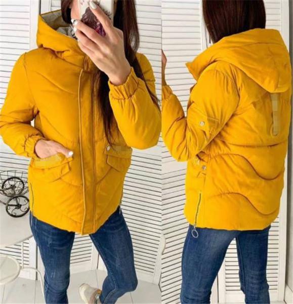 Μοντέρνο χειμερινό γυναικείο μπουφάν  σε πέντε χρώματα με κουκούλα