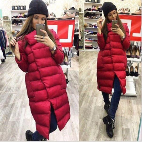 Νέο μοντέλο γυναικείο μακρύ μπουφάν με τσέπη και φερμουάρ σε τέσσερα χρώματα