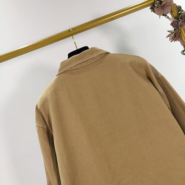 Γυναικείο μπουφάν άνοιξης-φθινοπώρου σε καφέ χρώμα με φερμουάρ