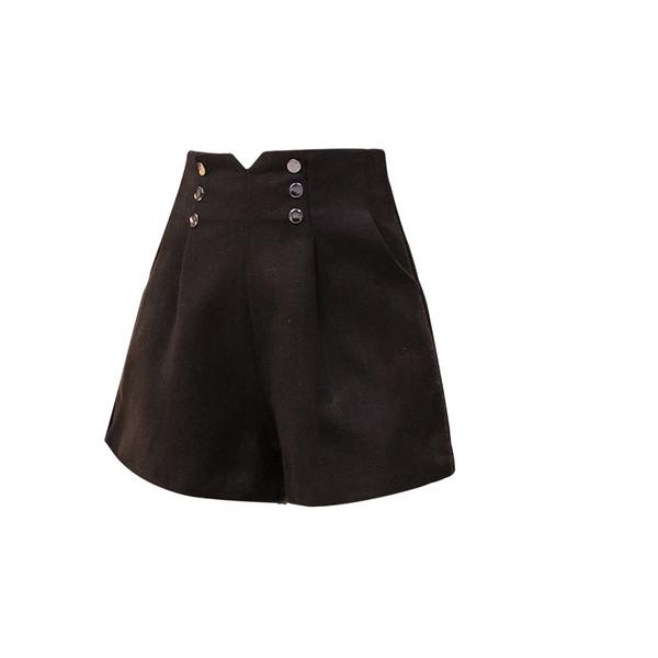Модерни дамски къси панталони в три цвята - широк модел
