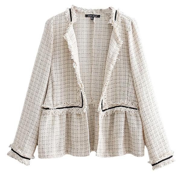 Дамско палто без копчета широк модел в бежов и сив  цвят