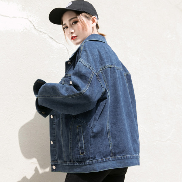 Casual γυναικείο τζιν μπουφάν σε σκούρα και ανοιχτά χρώματα