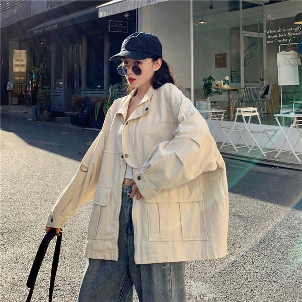 Γυναικείο casual μπουφάν φαρδύ μοντέλο δύο χρωμάτων
