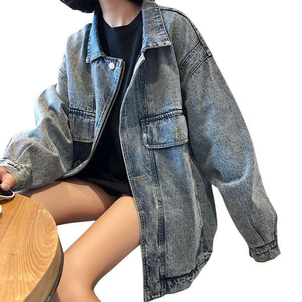 Γυναικείο τζιν μπουφάν- ευρύ μοντέλο