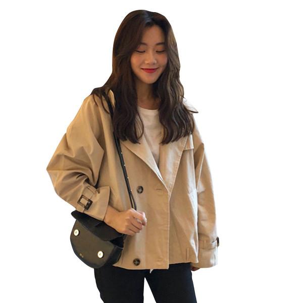 Γυναικείο μπουφάν φαρδύ μοντέλο σε μπεζ χρώμα