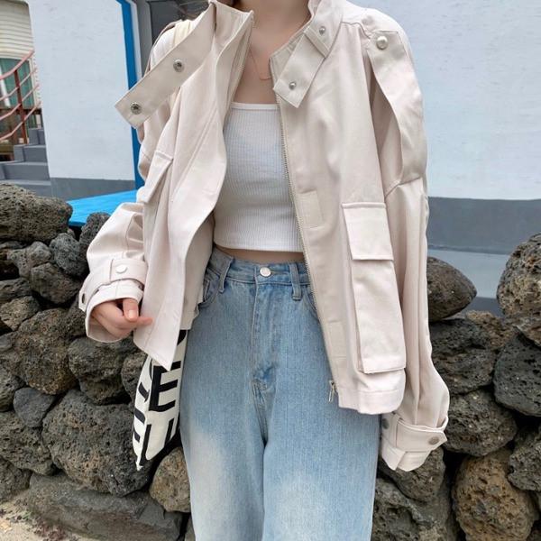 Γυναικείο μοντέρνο μπουφάν σε τρία χρώματα -κοντό  μοντέλο