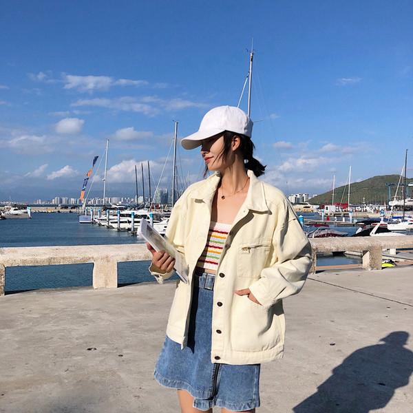 Γυναικείο casual μπουφάν - ευρύ μοτίβο σε λευκό χώμα