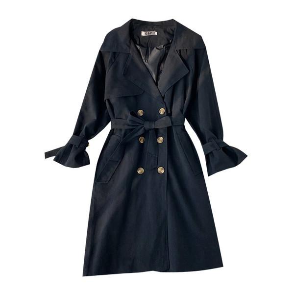 Ежедневно дамско палто с връзки в три цвята