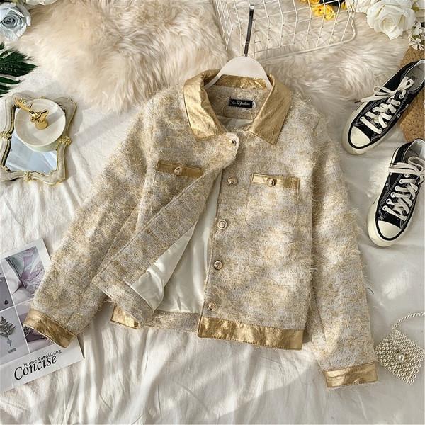 Casual γυναικέιο μπουφάν με κορδόνια και κλασικό γιακά