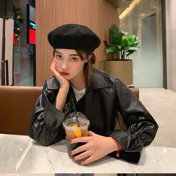 Γυναικείο έκο δερμάτινο μπουφάν σε μαύρο χρώμα
