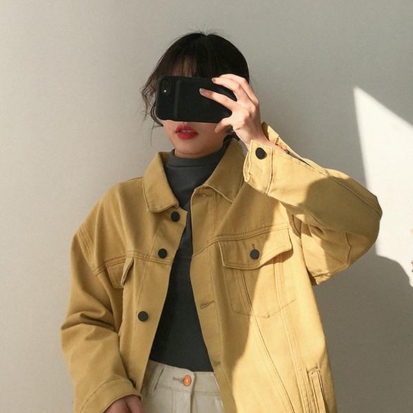 Γυναικείο τζιν μπουφάν - ευρύ μοντέλο σε τρία χρώματα