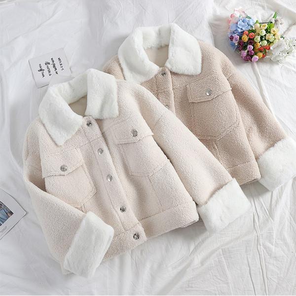 Нов модел късо дамско палто с пух в няколко цвята