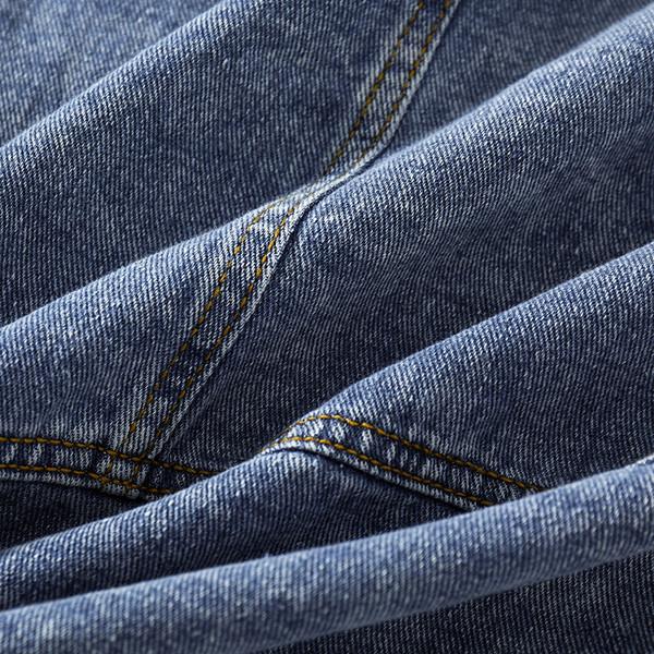 Γυναικείο τζιν μπουφάν με κουμπιά σε μπλε χρώμα