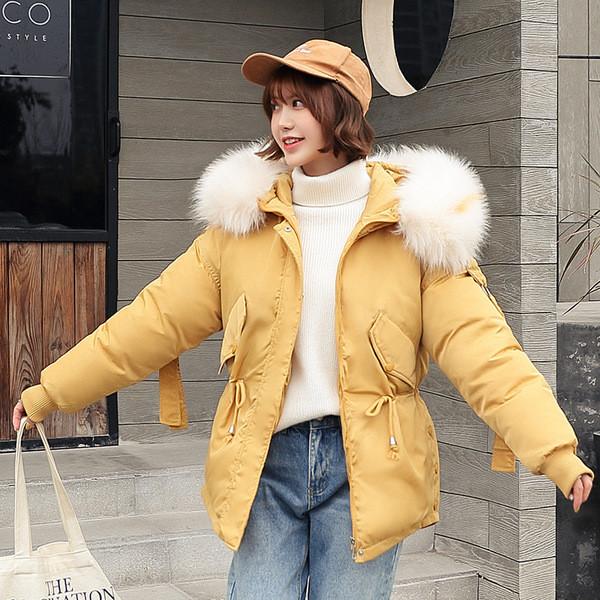 Μοντέρνο γυναικείο μπουφάν με κουκούλα και μακριά μανίκια σε διάφορα χρώματα