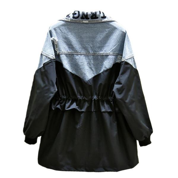 Casual γυναικείο μπουφάν με κορδόνι στη  μέση σε μαύρο χρώμα