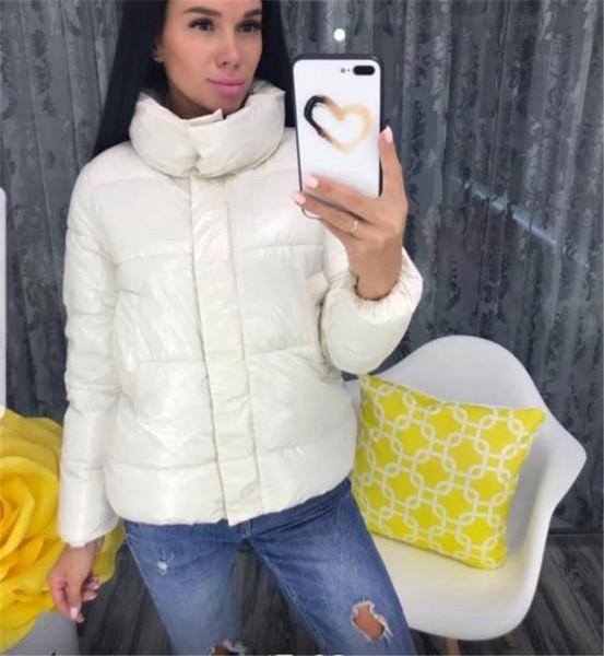 Μοντέρνο γυναικείο κοντό μπουφάν με φερμουάρ σε διάφορα χρώματα