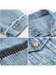 Γυναικείο τζιν μπουφάν με κλασικό γιακά σε μπλε χρώμα