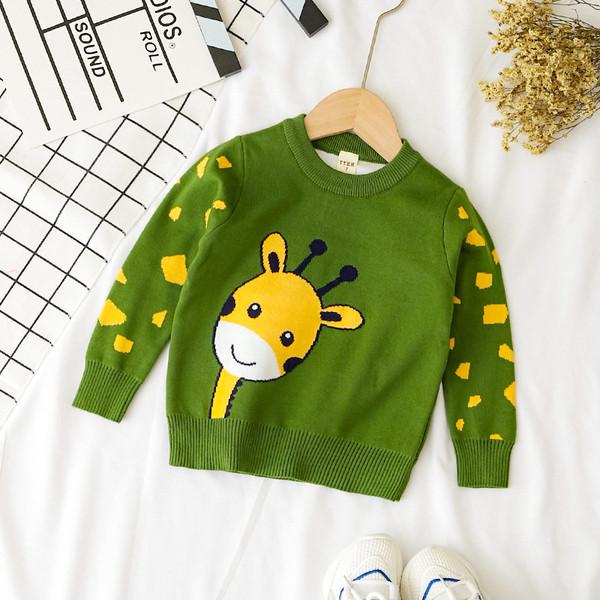 Модерен детски пуловер в два цвята за момчета