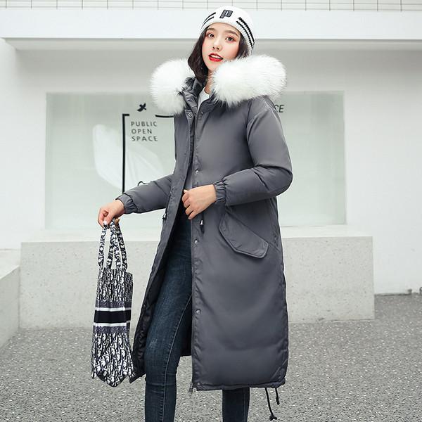 Μακρύ γυναικείο μπουφάν με κουκούλα σε διάφορα χρώματα