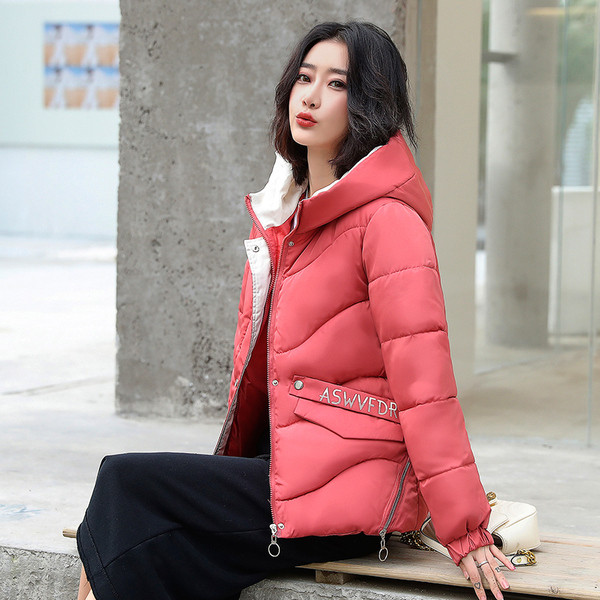 Casual γυναικείο χειμερινό μπουφάν με τσέπη σε διαφορετικά χρώματα