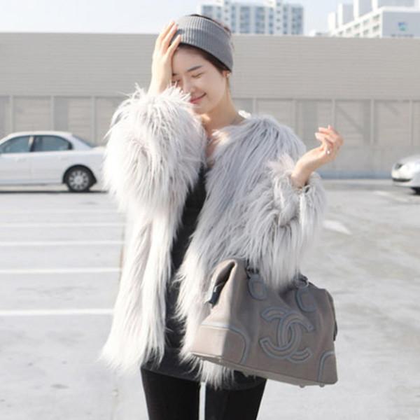 Модерно дамско палто с дълъг ръкав