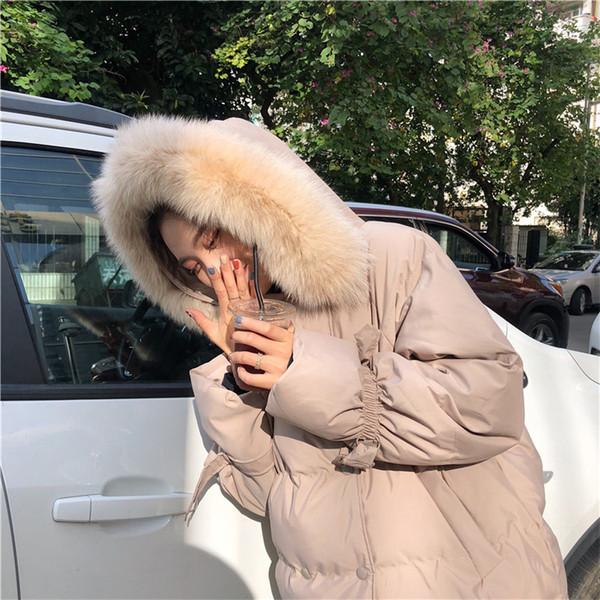 Γυναικείο χειμωνιάτικο μπουφάν με κουκούλα σε δύο χρώματα