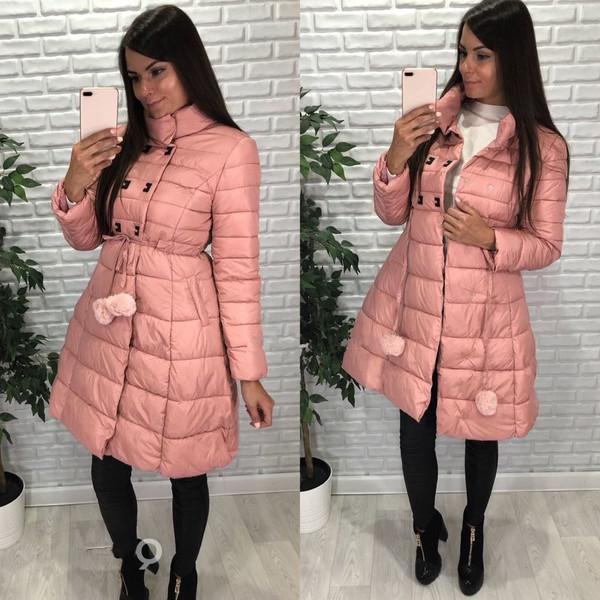 Μοντέρνο μακρύ χειμωνιάτικο γυναικείο μπουφάν με υψηλό γιακά σε δύο χρώματα