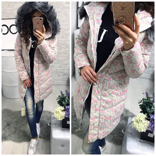 Νέο μοντέλο μακρύ χειμερινό μπουφάν με κουκούλα σε τρία χρώματα