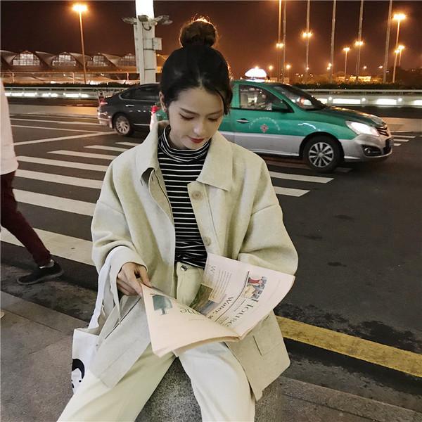 Дамско ежедневно палто в два цвята - широк модел